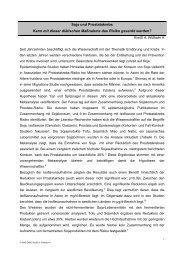 Soja und Prostatakrebs - Dr. Kurt A. Moosburger