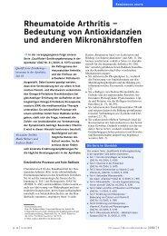 Rheumatoide Arthritis - Dr. Kurt A. Moosburger