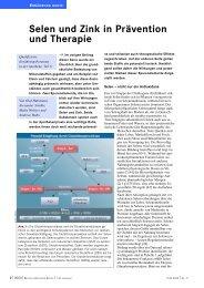 Selen und Zink in Prävention und Therapie - Dr. Kurt A. Moosburger
