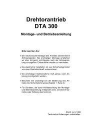 Drehtorantrieb DTA 300 Montage- und Betriebsanleitung - Sommer