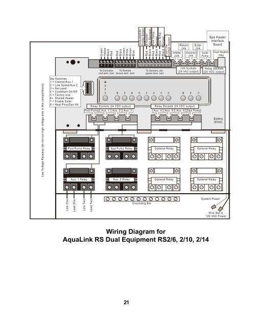 aqualink hayward wiring diagram aqualink wiring diagram #1