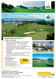 GOLFWOCHE - Tunesien, Hammamet 12. - World of Travel