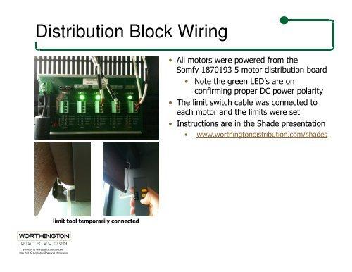 Distribution Block Wiring