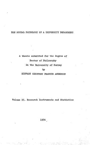 thesis submitted to the university of nottingham for the degree of doctor of philosophy