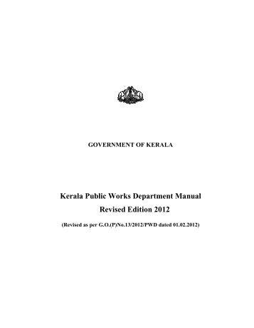 Kerala Public Works Department Manual Revised ... - Kerala PWD
