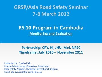 GRSP/Asia Road Safety Seminar 7-8 March 2012 RS 10 Program in ...