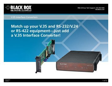 Match up your V.35 and RS-232/V.24 or RS-422 ... - Black Box