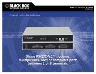 Share RS-232/V.24 modems, multiplexors, host or ... - Black Box