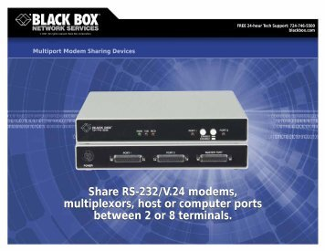 Share RS-232/V.24 modems, multiplexors, host or ... - Black Box