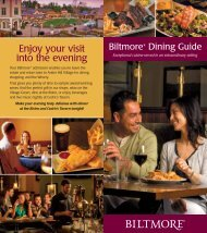 Download Dining Guide - Biltmore Estate
