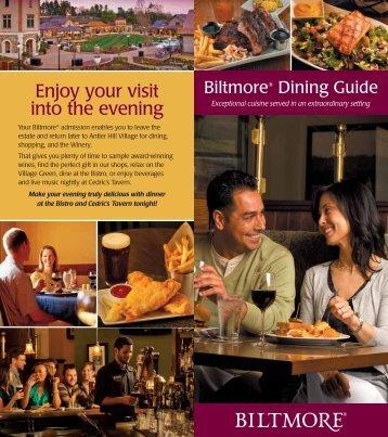 Download Dining Guide - Biltmore Estate