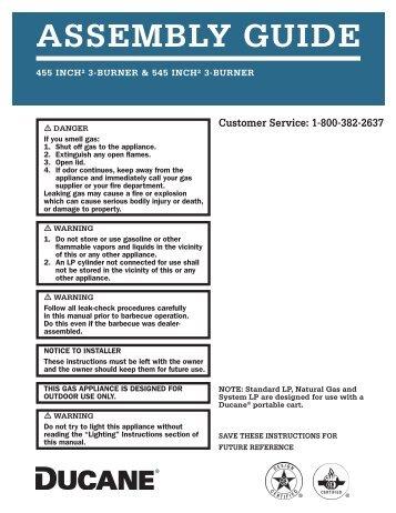 Ducane 455 and 545 3 Burner Cast Assembly Guide ... - Help - Weber