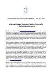 Rotkäppchen auf der Deutschen Märchenstraße • die ...