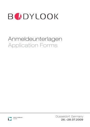 Anmeldeunterlagen Application Forms - Gesell & Co Messemarketing