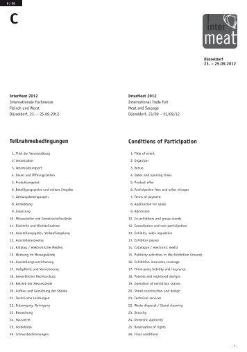 Teilnahmebedingungen InterMeat 2012 - Gesell & Co ...