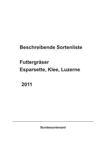 """Beschreibende Sortenliste """"Futtergräser ... - Bundessortenamt"""