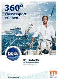 CheckIn boot 2013 - Messe Düsseldorf