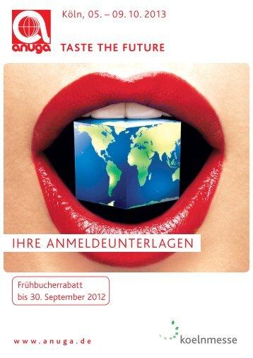 Anmeldung Anuga 2013 - Gesell & Co Messemarketing