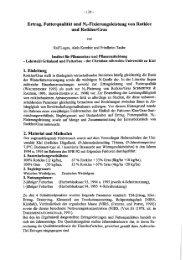 Ertrag, Futterqualität und Nz-Fixierungsleistung von Rotklee und ...