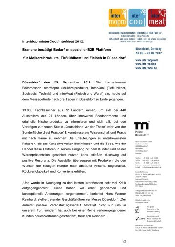 Schlussbericht InterMCM 2012 - Gesell & Co Messemarketing