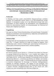 Einfluss der Ansaatmischung auf Ertrag und Qualität bei Blanksaat ...