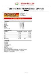 Restaurant Eiscafe Sambuca in 12437 Berlin ... - Pizza Taxi