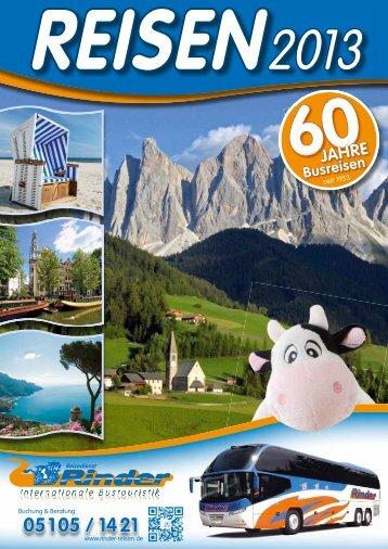 Reiseproramm 2013! - Reisedienst Rinder GmbH