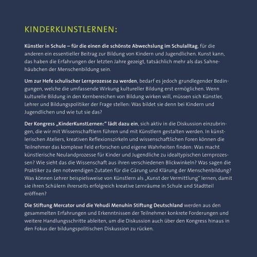 Kongressprogramm - Stiftung Mercator