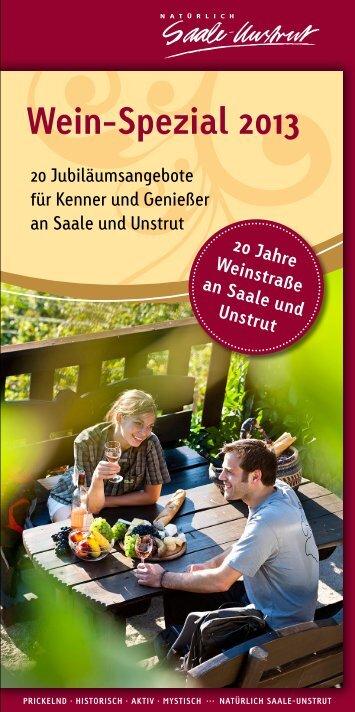Wein-Spezial 2013 - Saale-Unstrut-Tourismus e.V.