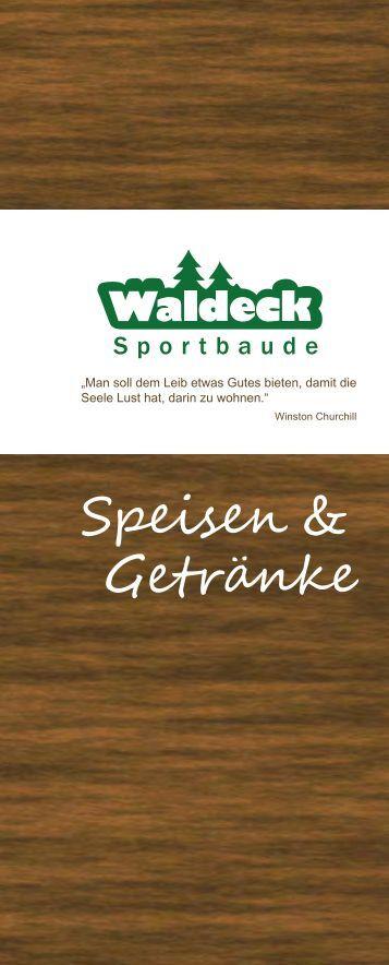 Speisekarte als PDF herunterladen - Sportbaude Waldeck