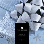 Celebrate the Festive Season - The Address