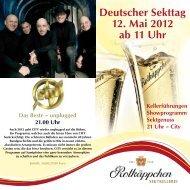 Deutscher Sekttag 12. Mai 2012 ab 11 Uhr - Saale-Unstrut ...