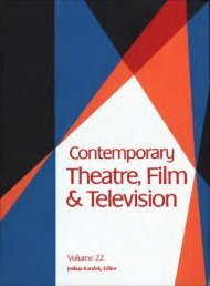 Contemporary Theatre, Film and Television, Vol. 22 - Index of