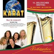 11. Deutscher Sekttag in der Rotkäppchen-Sektkellerei