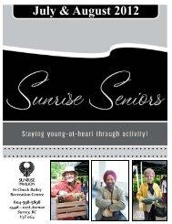 July-August Newsletter - Sunrise Seniors Centre