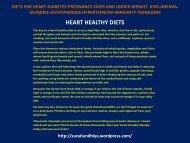 HEART HEALTHY DIETS – WordPress.com