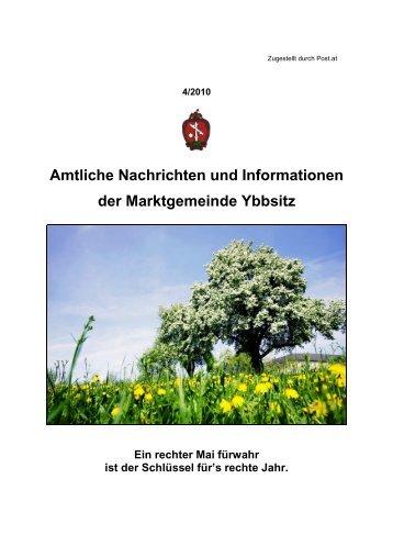 Amtliche Nachrichten Ausgabe 4/2010 - Marktgemeinde Ybbsitz