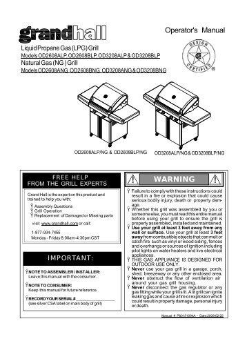 grill warranty 3year warr