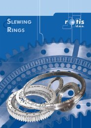 ffunctioning of a slewing ring