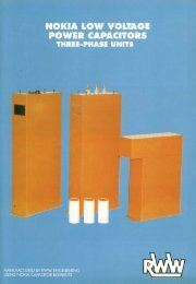 Low Voltage Power Capacitors Brochure - RWW Engineering