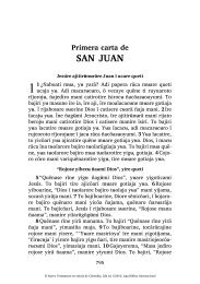 Primera carta de SAN JUAN - Splash page of Scripture Earth