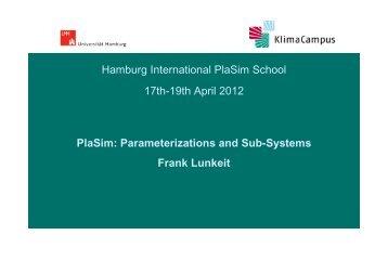 PlaSim parameterizations