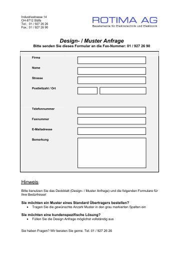 design muster anfrage - Einwohnermeldeamtsanfrage Muster