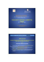 food safety national committee (cnsa) - Ministero della Salute