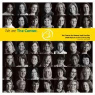 We Are The Center (2009) - The Center for Women and Families