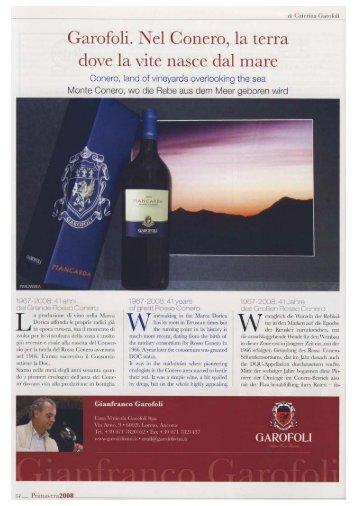 Convivium Magazine Primavera 2008 - GES Sorrentino