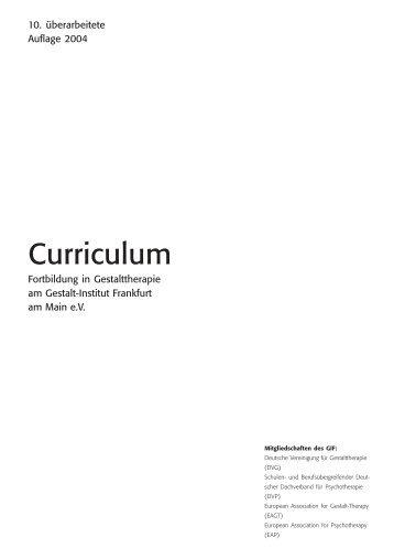 Curriculum - Gestalt-Institut
