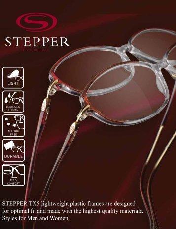 STEPPER TX5 lightweight plastic frames are designed ... - ImageWear