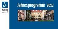 Jahresprogramm 2012 - Gemeindekolleg der VELKD