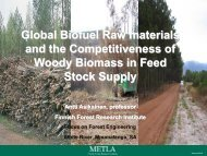Global Biofuel Raw materials and the Competitiveness of Woody ...